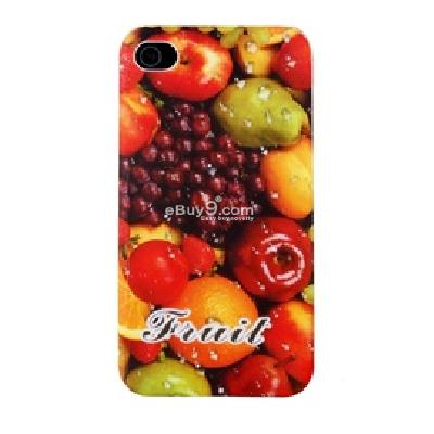 fruits pattern open-face design protective case for iphone 4 CU58X-As picture