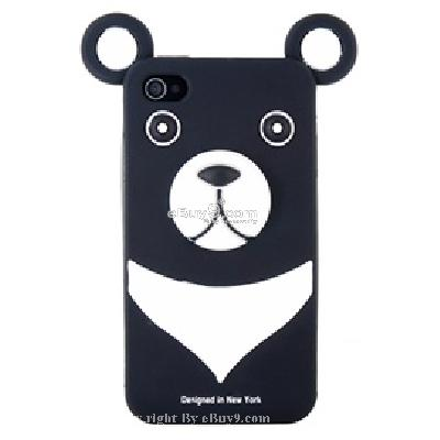 cute bear protective silicon case for iphone4 CV13B-As picture