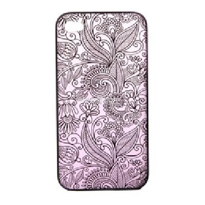 stylish flower protective pc case for apple iphone 4 4s CW62U-As picture