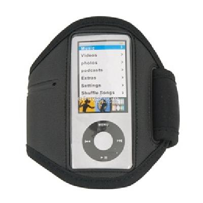 armband sport case for apple ipod nano 4th 5th generation (black) cs154B-Black