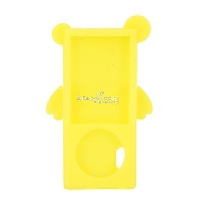 angel silicone case cover for ipod nano 5th (yellow) cs155y-yellow