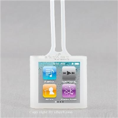 portable protective rubber skin case cover with string for ipod nano 6th generation cs157w-As picture