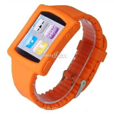 silicone wrist watch band strap case for ipod nano 6th gen mp3 player cs171O-As picture