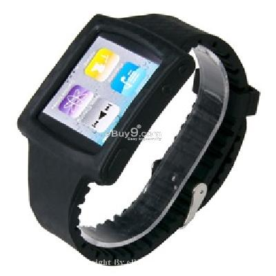 silicone wrist watch band strap case for ipod nano 6th gen mp3 player cs171B-As picture
