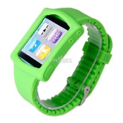 silicone wrist watch band strap case for ipod nano 6th gen mp3 player cs171g-As picture