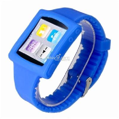 silicone wrist watch band strap case for ipod nano 6th gen mp3 player cs171L-As picture