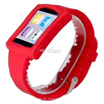 silicone wrist watch band strap case for ipod nano 6th gen mp3 player cs171r-As picture