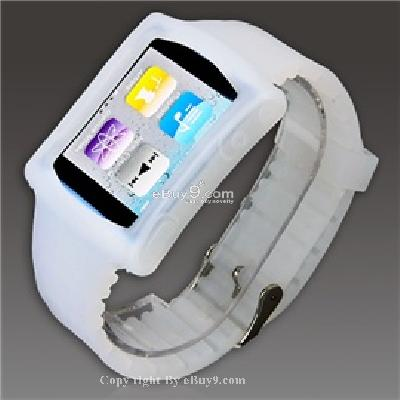 silicone wrist watch band strap case for ipod nano 6th gen mp3 player cs171T-As picture