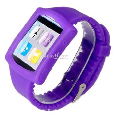 silicone wrist watch band strap case for ipod nano 6th gen mp3 player cs171u-As picture