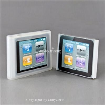 bosity ultra-slim soft cover case skin for apple ipod nano6 (white) cs198w-White