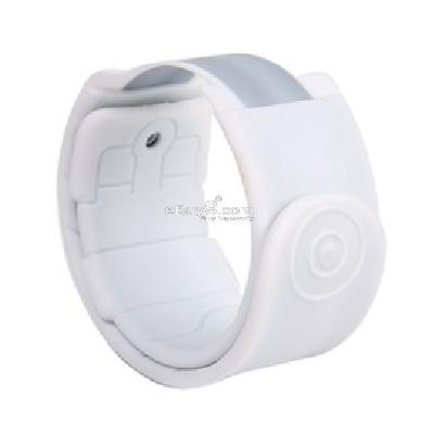 silicone magnetic wristband for ipod nano 6 (white) cs199w-White