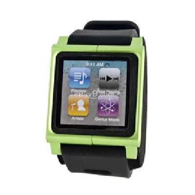 lunatik rubber sport wrist strap for apple ipod nano 6 (green) cs200g-Green