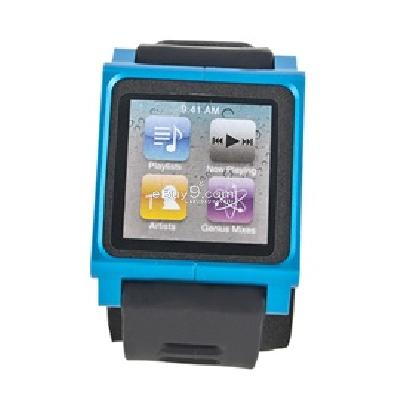 lunatik rubber sport wrist strap for apple ipod nano 6 (blue) cs200l-Blue