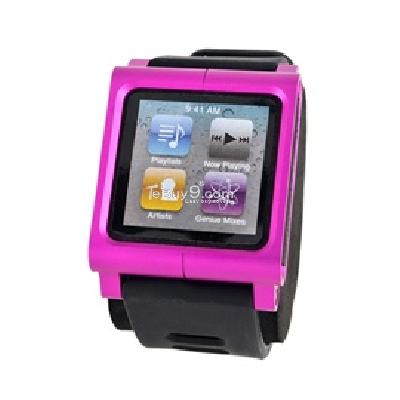 lunatik rubber sport wrist strap for apple ipod nano 6 (pink) cs200p-Pink
