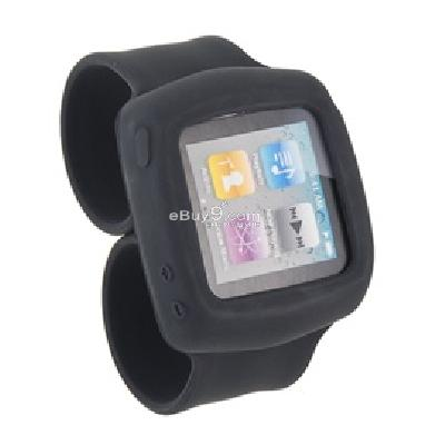 griffin flexible silicon wristband for ipod nano6 (black) cs201b-Black