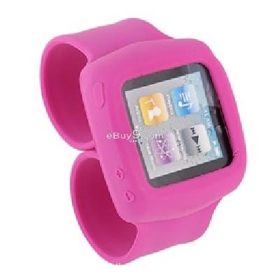 griffin flexible silicon wristband for ipod nano6 (pink) cs201p-Pink
