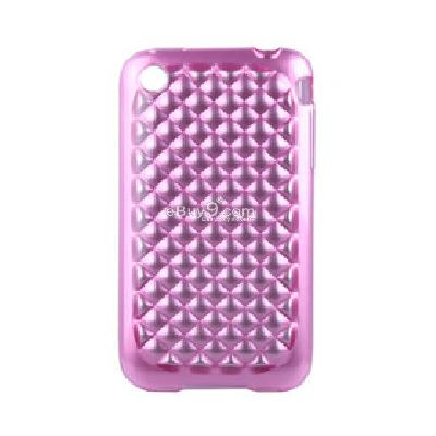 Silicone Protective Case for iPhone 3G 3GS (Pink) CFI118357-Pink