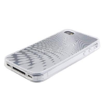 Raindrop Pattern Protective TPU Case for iPhone 4G Transpatent CFI178676-As picture