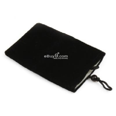 Trendy Cell Velvet Bag for iPhone (Black) CFI205936-As picture