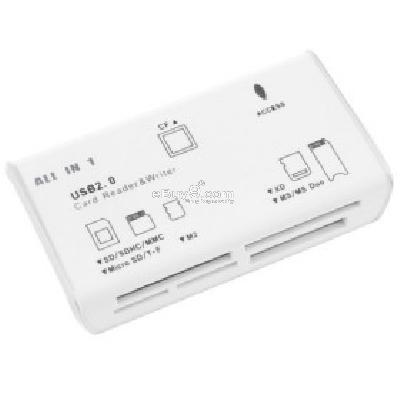 All-in-1 USB 2.0 Card Reader (White) CF085054-White