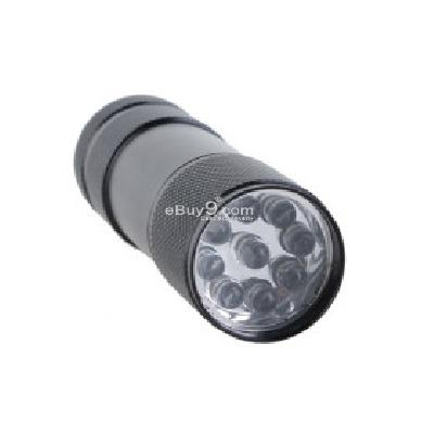 Mini Aluminum 9 LED Flashlight -As picture