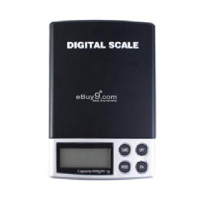 Pocket Digital Scale (500g Max  0.1g Resolution) DS098061-Black