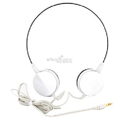 Seamless Headband Headphone Earphone P108W}-White