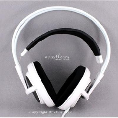 V1 Full Size Headset for PC Gamers with Mic P408W}-White