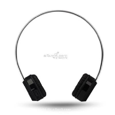 Rapoo H3000 High-Fidelity 2.4G USB Wireless Headphone with NANO Transmitter and Rechargeable Lithium Battery P759B}-Black