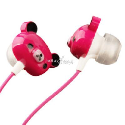 Teddy Bear Earphones (Pink) E178563-Pink