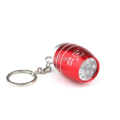 Barrel Shape 6pcs Superbright LED Flashlight KeyChain Unique Design Red -As picture