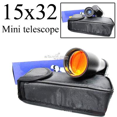 NEW Black MONOCULAR Pocket Mini 15x32 telescope GJDTW-Black