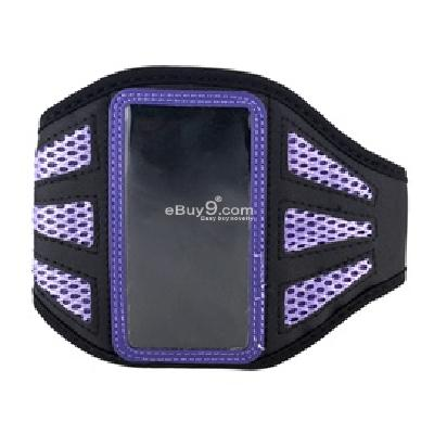gym sport armband running case armband for ipod touch 4 (purple) g166u-Purple
