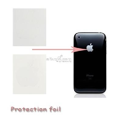apple logo decal sticker for iphone 3g 3gs and itouch (transparent) g448t-As picture