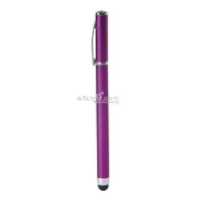 2 in 1 stylus touch ballpoint pen for iphone ipad2 ipod (purple) g759u-Purple