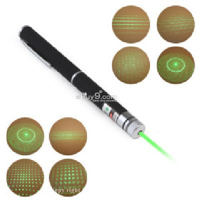 5 in 1(5 Patterns Green Laser Cap) 5mw 532nm Astronomy Powerful Green Laser Pointer -As picture