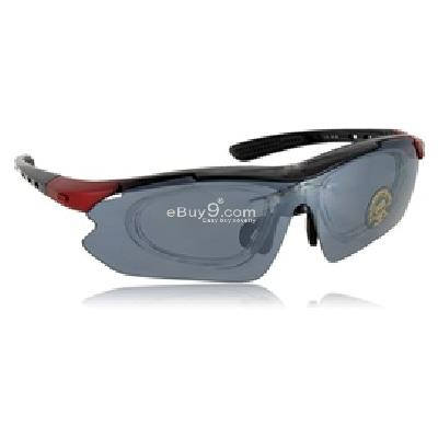 Outdoor Goggles Four Sets of Lenses L663R-Red