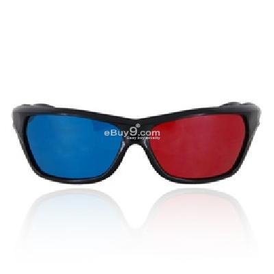 Red Blue 3D Anaglyph Glasses for Movie Game Vision P515X-Red and blue