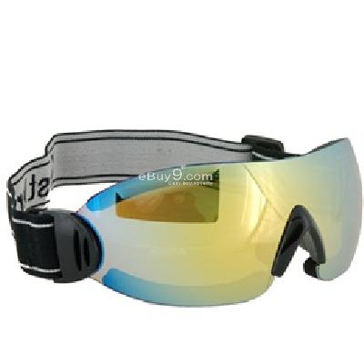 Fashion Protective Eyewear Frameless Ski Snowboard Skate Sports Safety Glasses Goggles P672Y-yellow