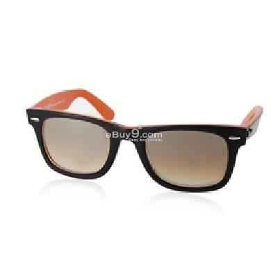 2140 Black and Orange Frame Optical Lens UV400 Anti-ultraviolet Sunglasses P880X-Black and Orange