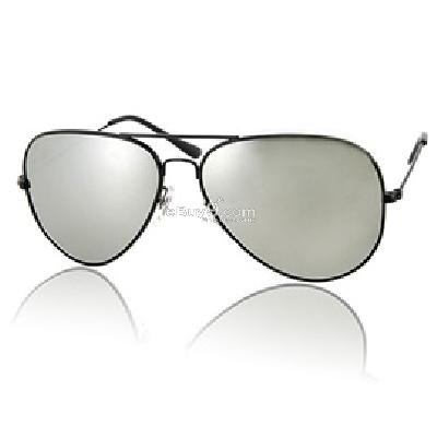 Black Stainless Frame Anti-ultraviolet Sunglasses P906B-Black