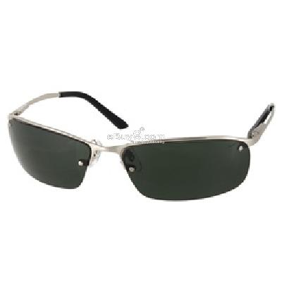 6029 Nickel Alloy Frame UV Protected Fashion Sunglasses with Carrying Bag P968S-Silver