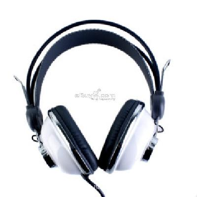 Kanen KM-740 Stylish Stereo Headphones (White) H094197}-White