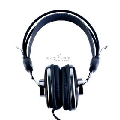 Kanen KM-760 Stylish Stereo Headphones (Black) H094201}-Black