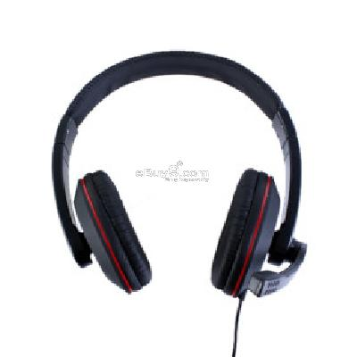 Kanen KM-760 Stylish Stereo Headphones + Microphone (Black) H094206}-As picture