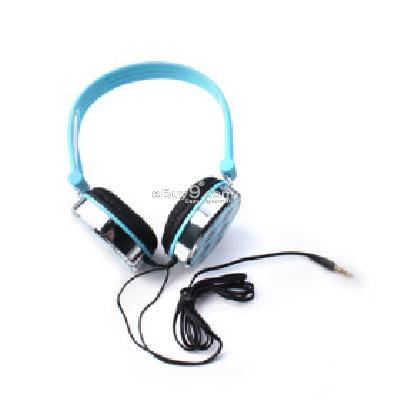 Stylish Skull Pattern Headphones (Blue) H156338}-Blue