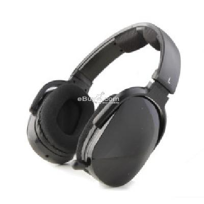 Sporty MP3 Player Stereo Headphones + FM Radio (Black) H173065-Black