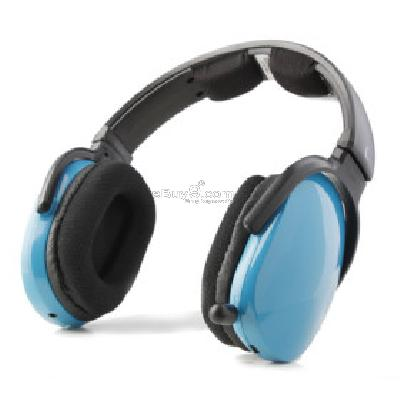 Sports MP3 Player Stereo Headphones + FM Radio (Blue)H173068-Blue