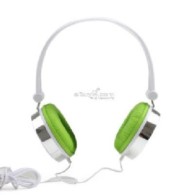 Manji Super Bass Multimedia Headphones (Green) H205099}-Green