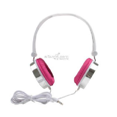 Manji Super Bass Multimedia Headphones (Pink) H205100}-Pink